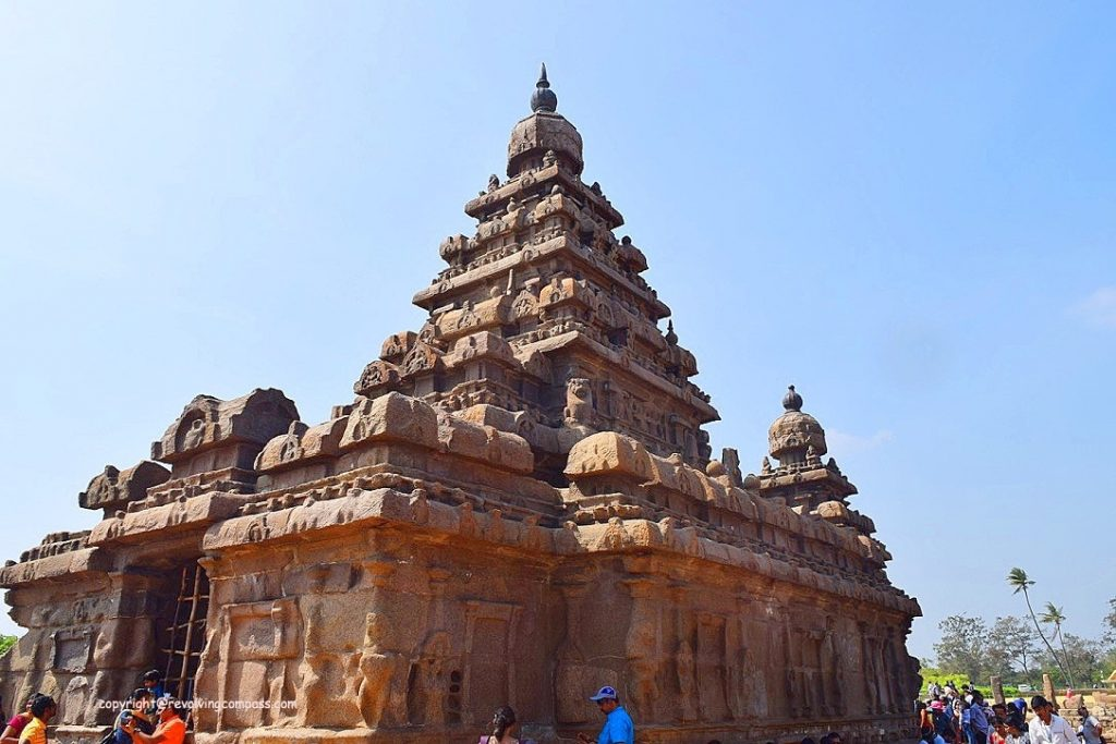 Shore Temple, Mahabalipuram, Tamil Nadu, India, Monument, Hindu, Religion